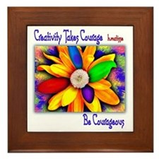 Creativity Flower Framed Tile