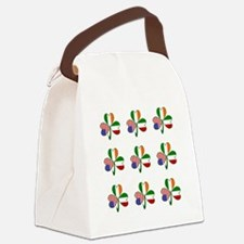 White Italian Shamrocks 9 Canvas Lunch Bag