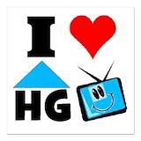 I love hgtv Square Car Magnets
