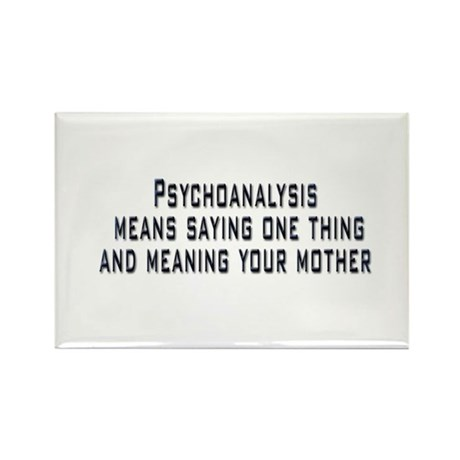 Psychoanalysis Rectangle Magnet