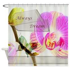 Cute Pink inspirational Shower Curtain