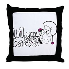 Will you be my BEARasite? Throw Pillow
