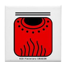 RED Planetary DRAGON Tile Coaster