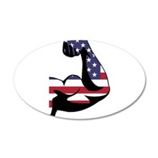 American Muscle Biceps Wall Decal