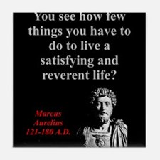 You See How Few Things - Marcus Aurelius Tile Coas