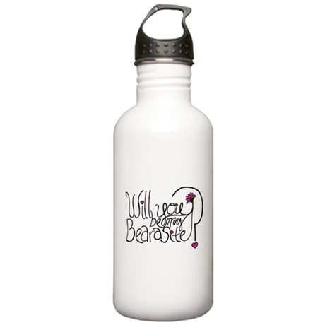 Will you be my BEARasite? Water Bottle