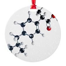 Ibuprofen molecule - Ornament (Aluminum)