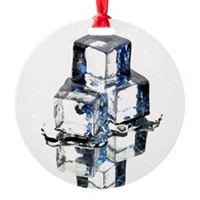 Ice cubes - Round Ornament (Aluminum)