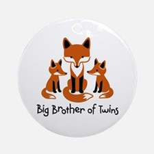 Big Brother of Twins - Mod Fox Ornament (Round)