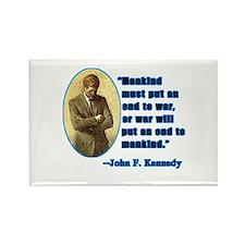 JFK Anti War Quotation Rectangle Magnet