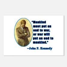 JFK Anti War Quotation Postcards (Package of 8)