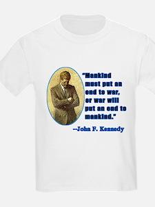 JFK Anti War Quotation Kids T-Shirt
