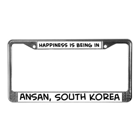 Happiness is Ansan License Plate Frame