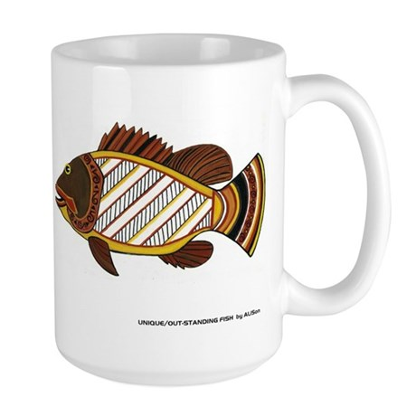 Exciting Fish Art Large Mug