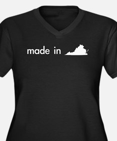 made in... Women's Plus Size V-Neck Dark T-Shirt