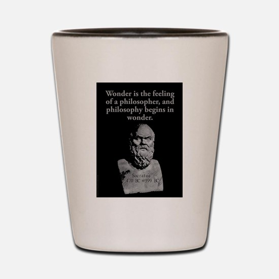 Wonder Is The Feeling - Socrates Shot Glass