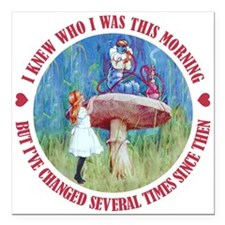 ALICE_CATERPILLAR_RED copy.png Square Car Magnet 3