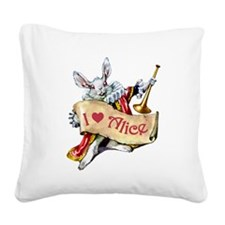 AP_003_I heart Alice copy.png Square Canvas Pillow
