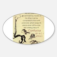 He Who Exercises Government - Confucius Decal