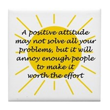 Positive Attitude Tile Coaster