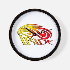 I Ride Tribal Bike Wall Clock