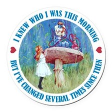 ALICE_CATERPILLAR_BLUE copy.png Round Car Magnet
