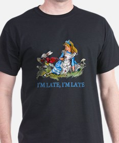 ALICE_RED_IM LATE_BLUE copy.png T-Shirt