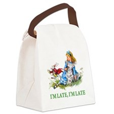 ALICE_RED_IM LATE_GREEN copy.png Canvas Lunch Bag