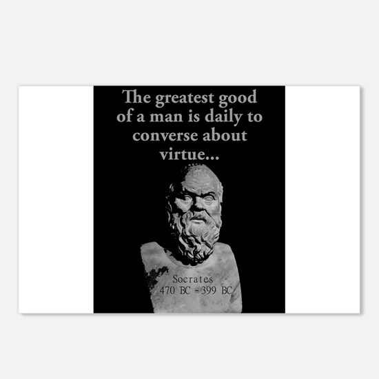 The Greatest Good Of A Man - Socrates Postcards (P