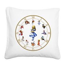 WONDERLAND_Clock.png Square Canvas Pillow