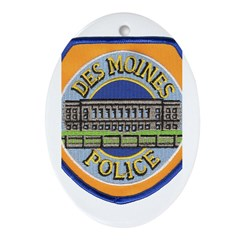 Des Moines Police Oval Ornament