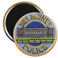 """Des Moines Police 2.25"""" Magnet (10 pack)"""