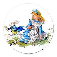 Alice_BLUE RABBIT copy.png Round Car Magnet