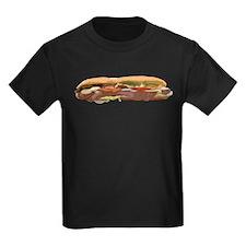 Sandwich Hoagie Baguette Food Meat Subway Sub T-Sh
