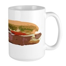Sandwich Hoagie Baguette Food Meat Subway Sub Mug