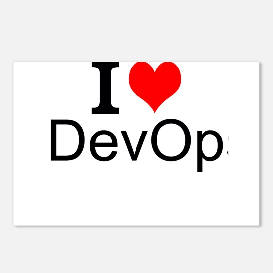 I Love DevOps Postcards (Package of 8)
