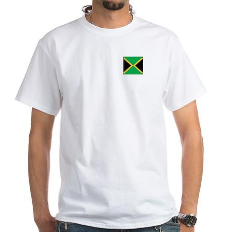 Jamaica Pocket Flag White T-Shirt