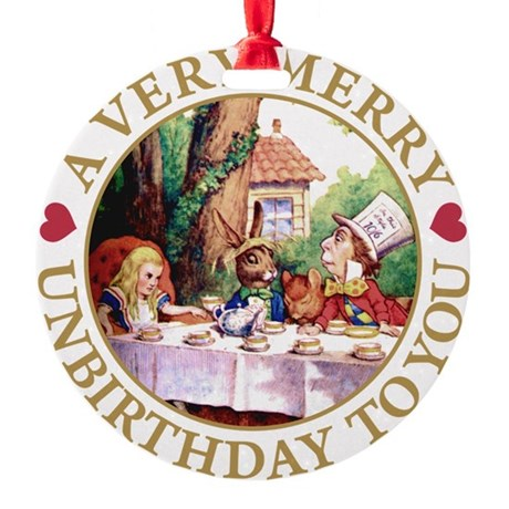 ALICE MAD HATTER unbirthday hrt gold copy.png Roun