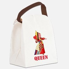 Alice Queen Of Hearts clock.png Canvas Lunch Bag