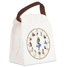 WONDERLAND_Clock.png Canvas Lunch Bag