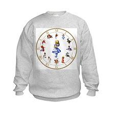 WONDERLAND_Clock.png Sweatshirt