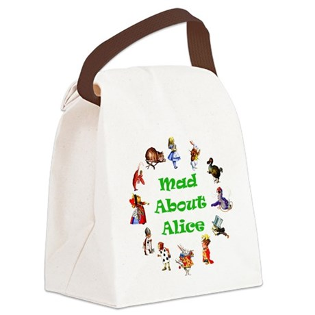 MAD ABOUT ALICE copy_GREEN.png Canvas Lunch Bag