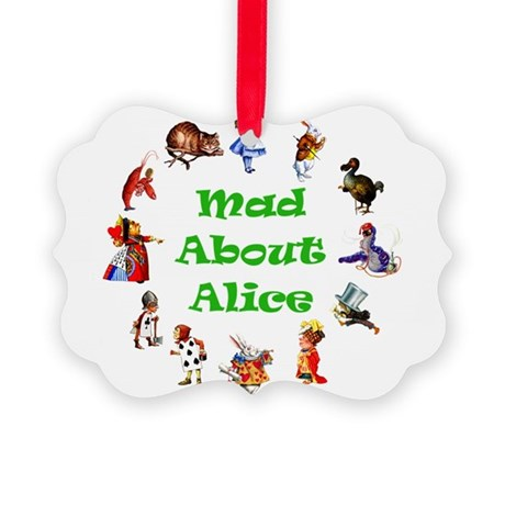 MAD ABOUT ALICE copy_GREEN.png Picture Ornament