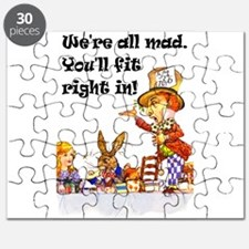 Alice Were all mad_10x14_mad hatter.png Puzzle