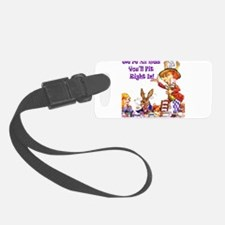 Alice Were all mad_16x20_Ravie Purpr.png Luggage Tag
