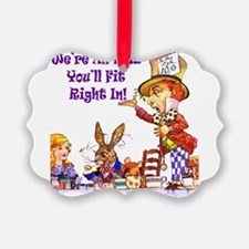 Alice Were all mad_16x20_Ravie Purpr.png Ornament