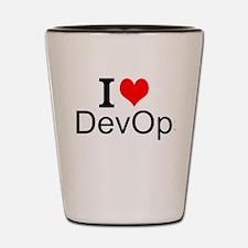 I Love DevOps Shot Glass