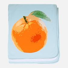 Orange Fruit Navel Valencia Naranja baby blanket