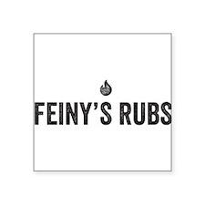 Feiny's Rubs logo Black Sticker