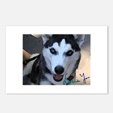 Siberian Husky Love You Postcards (Package of 8)